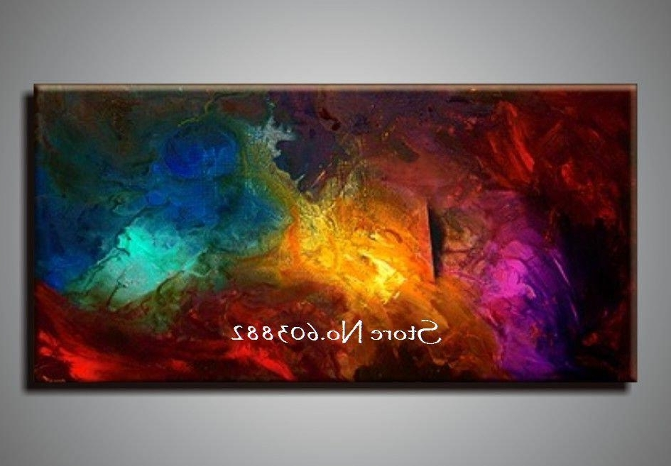 Best 100 Handpainted Large Canvas Wall Art High Quality Home With Inside Most Up To Date Cheap Wall Canvas Art (View 7 of 15)