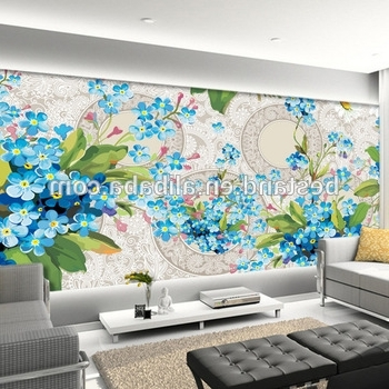 Best And Newest 2017 Top Selling Wall Art Large 3D Flower Wall Paintings Bedroom Within 3D Wall Art Wallpaper (View 6 of 15)
