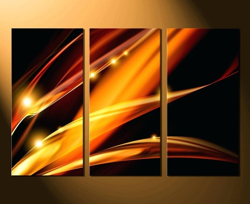 Best And Newest 3 Piece Abstract Wall Art With 3 Piece Art 3 Piece Canvas Wall Art Modern Wall Art Brown Wall Decor (View 15 of 15)