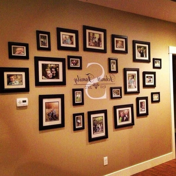 Best And Newest 32 Gorgeous Gallery Wall Ideas That Everyone In The House Will Love For Family Photo Wall Art (View 5 of 15)