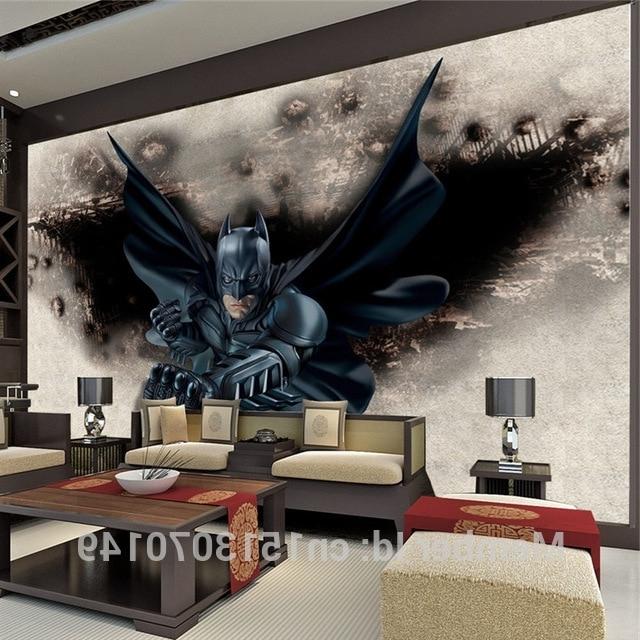 Best And Newest 3D Amazing Batman Wall Mural Custom Large Photo Wallpaper Super Hero Regarding Batman 3D Wall Art (View 7 of 15)