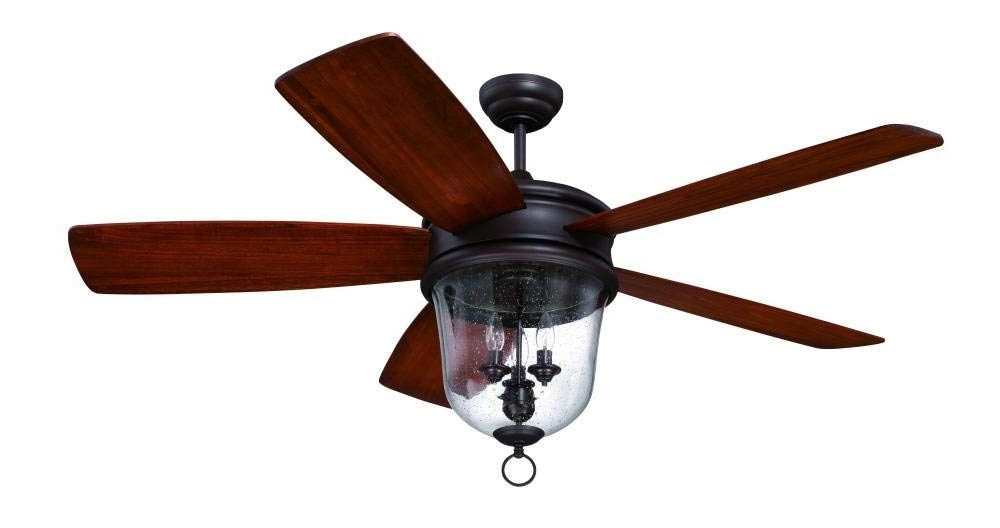 """Best And Newest 60 Inch Outdoor Ceiling Fans With Lights In Craftmade Fb60Obg5, Fredericksburg Bronze Five Blade 60"""" Ceiling Fan (View 7 of 15)"""