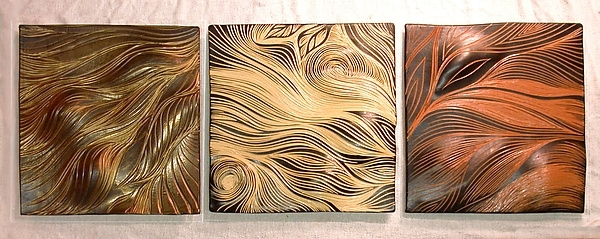 Best And Newest Abstract Ceramic Wall Art Intended For Abstract Ceramic Wall Art Abstract Ceramic Wall Tiles In Warm Tones (View 11 of 15)