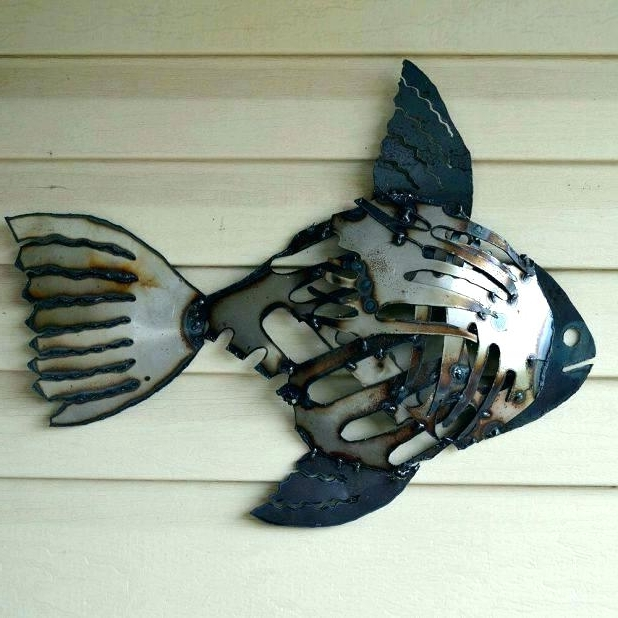 Best and Newest Abstract Metal Fish Wall Art in Fish Wall Art Metal Decorative Metal Fish Wall Art Metal Fish Wall