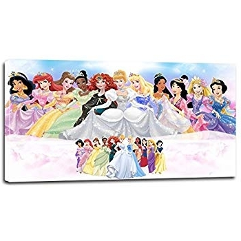 Best And Newest Amazon: Disney Princess Wall Art – Princess Print Art Frame (1Pc Regarding Disney Princess Wall Art (View 2 of 15)