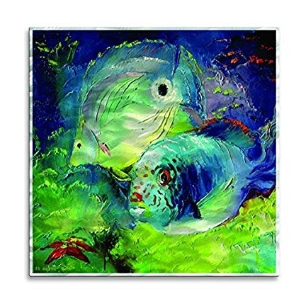 Best And Newest Amazon: Metal Wall Art Decor 'aquarium' Abstract Fish Wall With Regard To Abstract Metal Fish Wall Art (View 5 of 15)