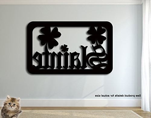 Best And Newest Amazon: Slainte Good Health Cheers Irish Metal Wall Art Sign Regarding Ireland Metal Wall Art (View 2 of 15)