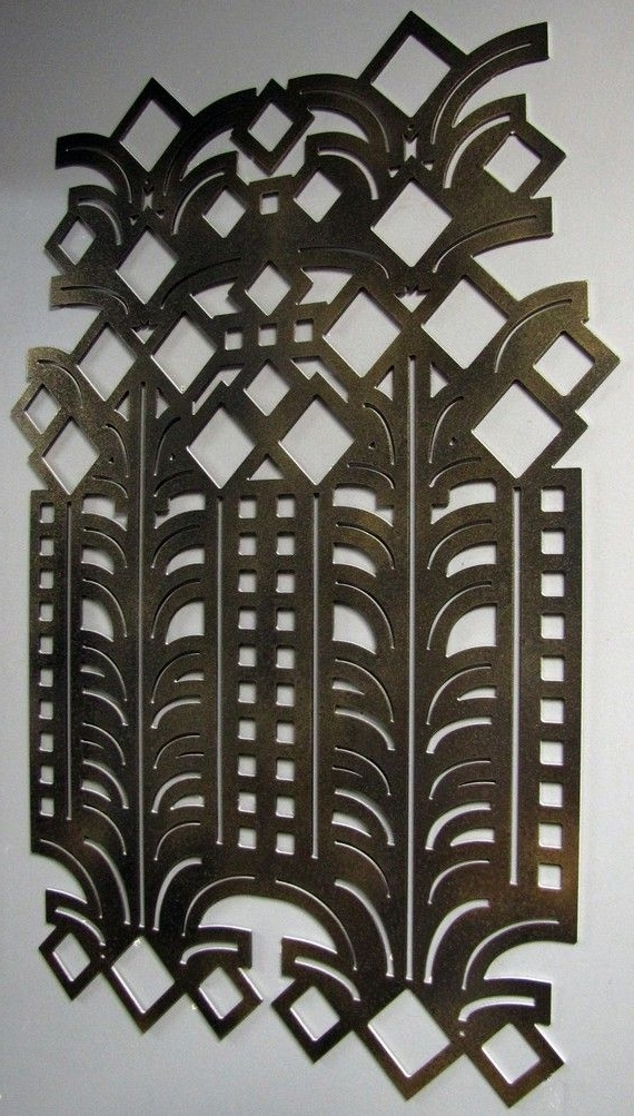 Best And Newest Art Deco Decorative Wall Art 23 X 35 Available In 25Studio724 Regarding Art Deco Metal Wall Art (View 2 of 15)