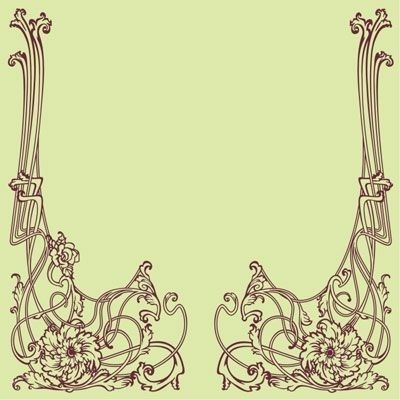 Best And Newest Art Nouveau Decorative Border Wall Decal (View 7 of 15)
