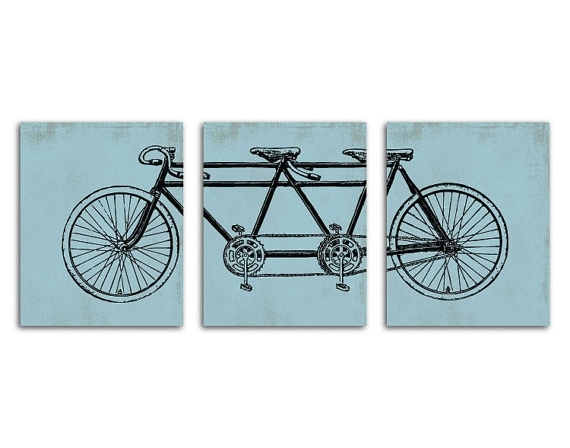 Best And Newest Bicycle Wall Art Decor Intended For Tandem Bike Wall Art Bicycle Wall Art Decor Tandem Bike Wall Hanging (View 7 of 15)
