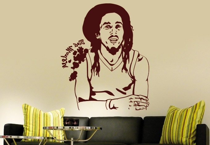 Best And Newest Bob Marley Wall Art Pertaining To Wall Sticker Bob Marley Amazing Bob Marley Wall Decal – Wall (View 7 of 15)