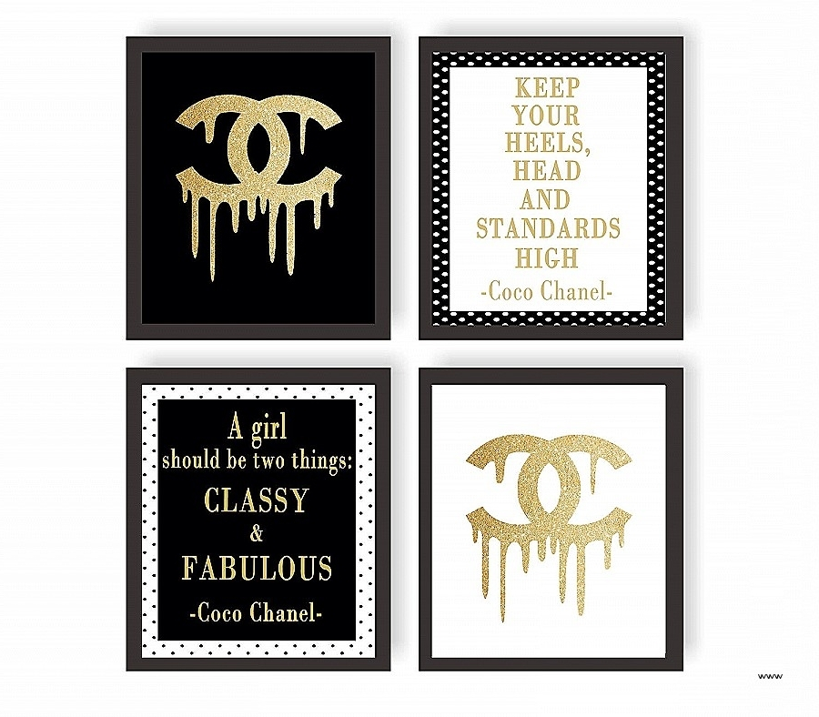 Best And Newest Coco Chanel Quotes Framed Wall Art For Wall Art (View 3 of 15)