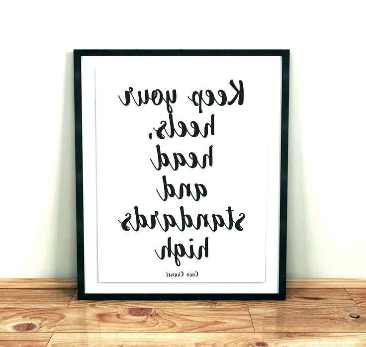 Best And Newest Coco Chanel Quotes Framed Wall Art In Wall Decor Coco Art My Of Life Absolutely Smart Big Quotes Canvas (View 3 of 15)