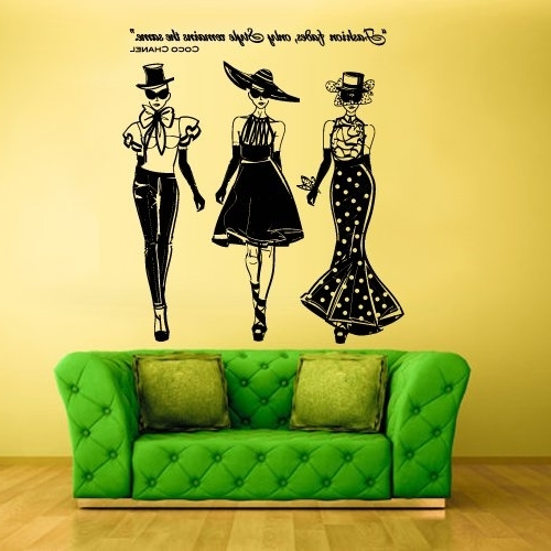 Best And Newest Coco Chanel Wall Decals Intended For Amazon: Wall Decal Vinyl Decal Sticker Decals Ladies Girls Coco (View 2 of 15)