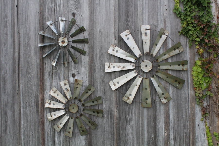 Best And Newest Country Metal Wall Art Intended For Rustic Metal Farm Country Windmill Wall Art Barn Decor Awesome (View 4 of 15)