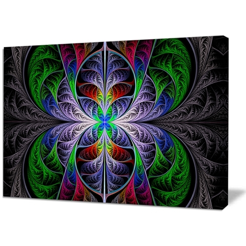 Best And Newest Designart – Beautiful Fractal Stained Glass – Abstract Wall Art Inside Glass Abstract Wall Art (View 4 of 15)