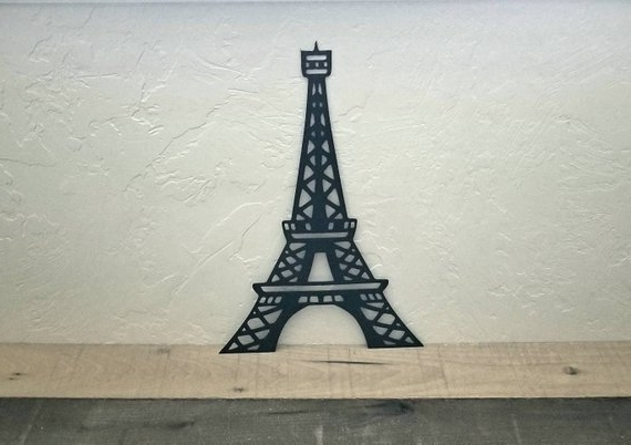 Best And Newest Eiffel Tower Metal Wall Art Paris Decor Eiffel Tower Decor (View 3 of 15)