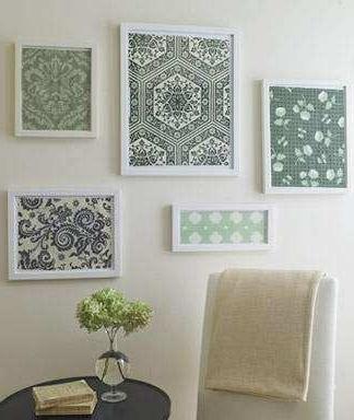 15 Inspirations of Framed Fabric Wall Art