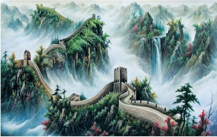 Best And Newest Great Wall Of China 3D Wall Art Regarding 3D Wallpaper Custom Mural Non Woven Wall Stickers Great Wall Chinese (View 2 of 15)