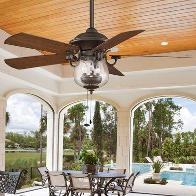 Best And Newest Indoor/ Outdoor Cloche Glass Ceiling Fan (View 5 of 15)