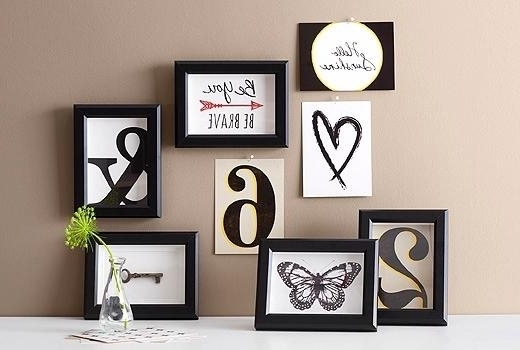 Best And Newest Lovable Pleasant Frames Wall Decor Black Picture Frames Wall Art Throughout Wall Art Frames (View 15 of 15)