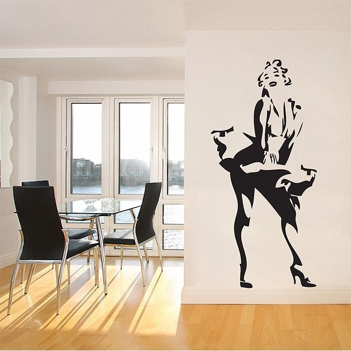 Best And Newest Marilyn Monroe Wall Art Within Sexy Marilyn Monroe Vinyl Wall Art Decal (View 3 of 15)