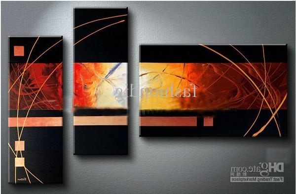 Best And Newest Modern Abstract Oil Painting Wall Art Regarding 2018 Black Oil Painting Canvas Modern Abstract Contemporary Artwork (View 7 of 15)