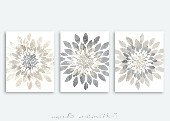 Best And Newest Neutral Wall Art For Bedroom Modern Flower Bursts Colors Fine – Wpllc Inside Neutral Wall Art (View 3 of 15)