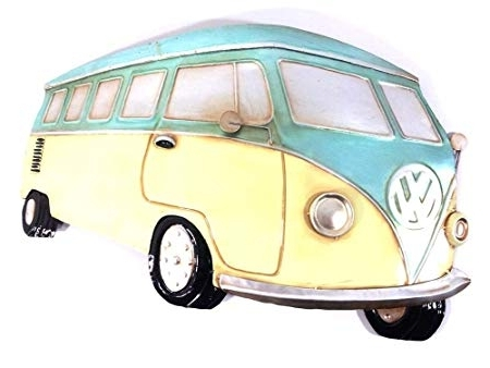 Best And Newest New Contemporary Metal Wall Art Picture Or Sculpture – Aqua Van Vw Throughout Campervan Metal Wall Art (View 1 of 15)