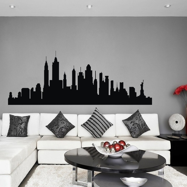 Best And Newest New York 3D Wall Art Pertaining To Wall Decal New York City Nyc Skyline Cityscape Travel Vacation (View 1 of 15)