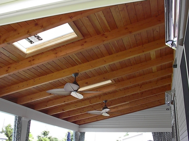 Best And Newest Outdoor Ceiling Fan Under Deck Intended For Want To Install An Outdoor Ceiling Fan Directly To Exposed 2X4 On A (View 2 of 15)