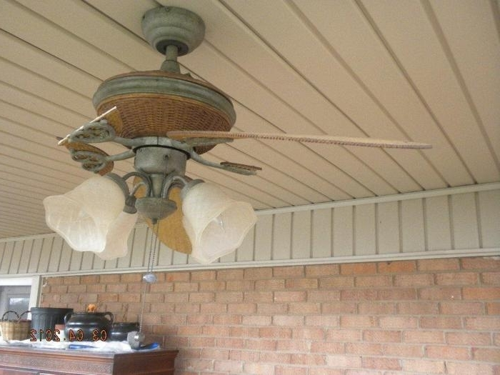 Best And Newest Outdoor Ceiling Fans For High Wind Areas Intended For Broken Blades (View 3 of 15)
