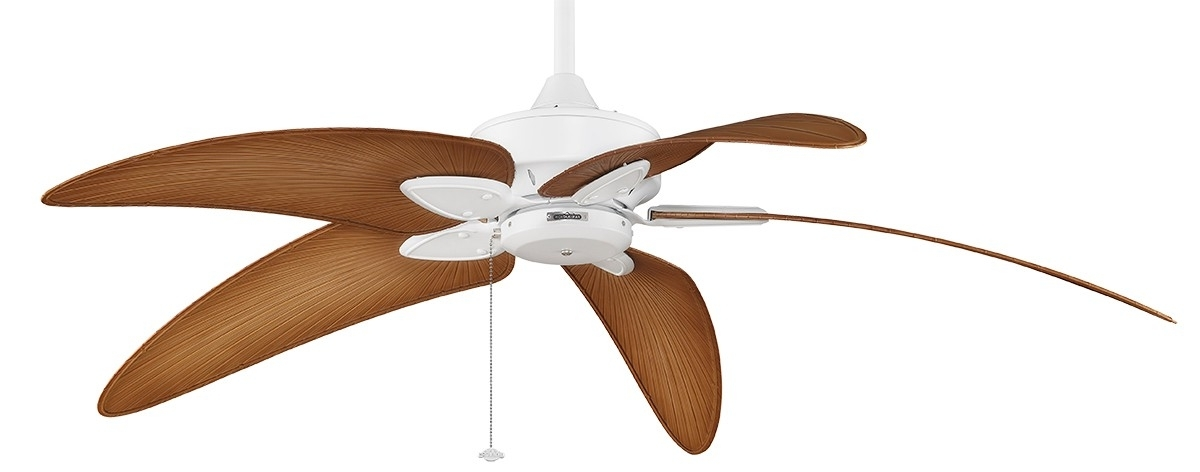 """Best And Newest Outdoor Ceiling Fans With Bamboo Blades Throughout 60"""" Tropical Windpointe Ceiling Fan With Curved Bladesfanimation (View 3 of 15)"""
