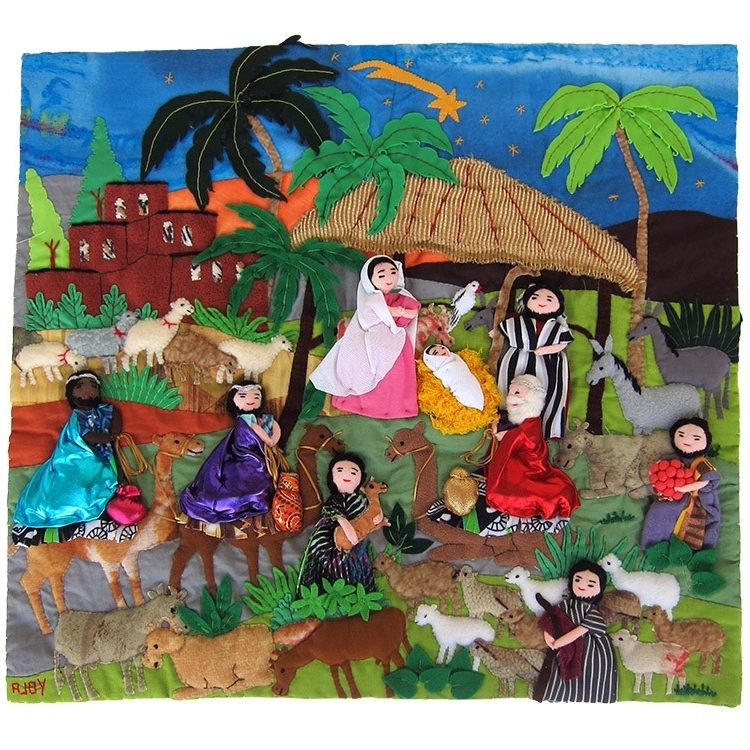 Best and Newest Peru's Best Arpillera Style Textile Art And Wall Hangings - Lucuma with Peruvian Wall Art