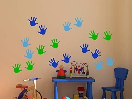 Best and Newest Preschool Classroom Wall Decals throughout Wall Decor Plus More Wdpm3566 Handprint Vinyl Wall Decals Sticker
