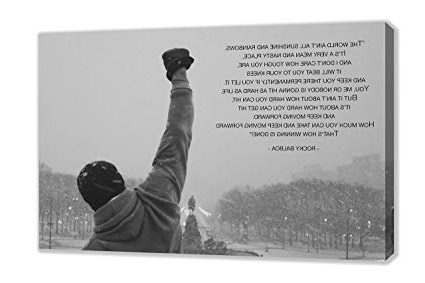 Best And Newest Rocky Balboa Wall Art Regarding Amazon: Rocky Balboa Famous Movie Quote Philadelphia Canvas Wall (View 7 of 15)