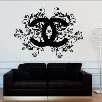 Best And Newest Shop Coco Chanel Stickers On Wanelo Showy Wall Decals (View 7 of 15)