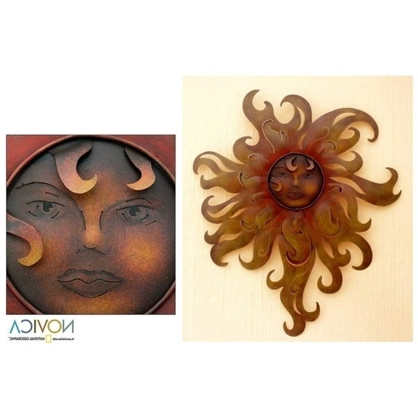 Best And Newest Shop Lady Of The Sun Indoor Outdoor Patio Garden Weathered Decorator For Mexican Metal Yard Wall Art (View 3 of 15)