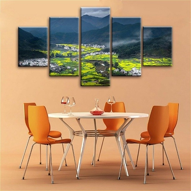Best And Newest Small Canvas Wall Art In Large Picture Hd Canvas Prints Small Villages Terraces In The (View 14 of 15)