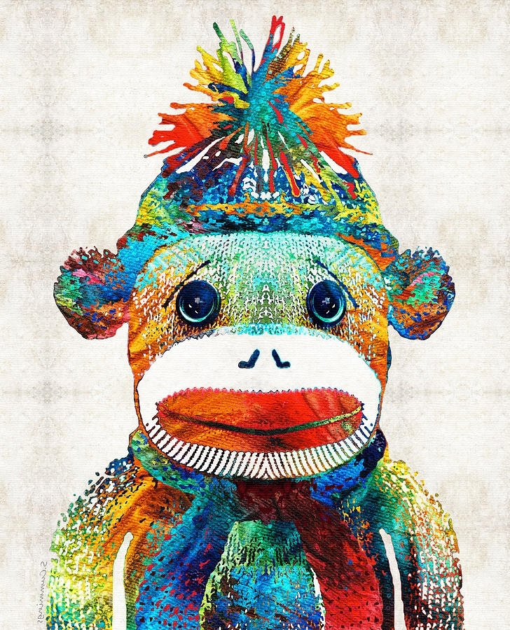 Best And Newest Sock Monkey Wall Art In Sock Monkey Art – Your New Best Friend  Sharon Cummings Painting (View 2 of 15)