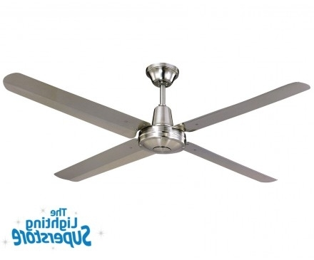 "Best And Newest Stainless Steel Outdoor Ceiling Fans Within 52"" Typhoon 316 Stainless Steel – Outdoor Ceiling Fans (View 6 of 15)"