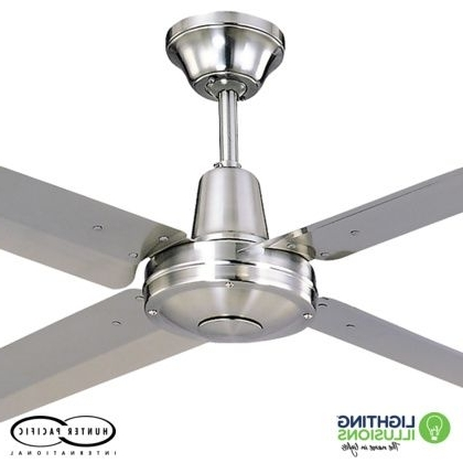 """Best And Newest Sunshine Coast Outdoor Ceiling Fans Pertaining To 48"""" – 1220Mm Typhoon Mach 2 316 Marine Grade Stainless Steel Ceiling (View 3 of 15)"""