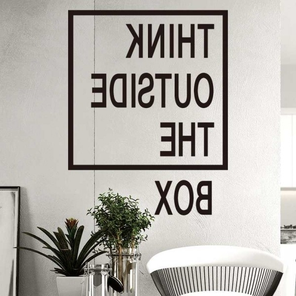 Best And Newest Wall Art For Offices Regarding Think Outside The Box Wall Quotes Decals Office Wall Art Creative (View 2 of 15)
