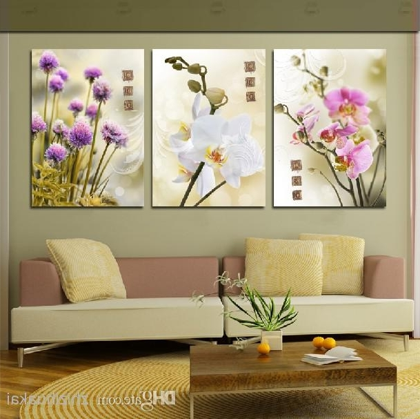 Best And Newest Wall Art Set Home Decoration Modern Picture Abstract Oil Painting Throughout 3 Piece Floral Canvas Wall Art (View 5 of 15)