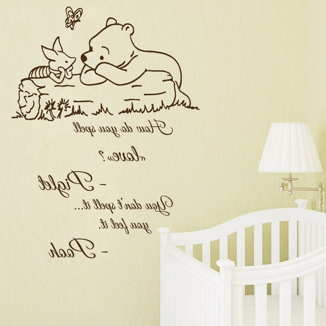 Best And Newest Winnie The Pooh Nursery Quotes Wall Art Intended For Hwhd New Wall Decal Quote Winnie The Pooh Decals Kids Vinyl Sticker (View 10 of 15)