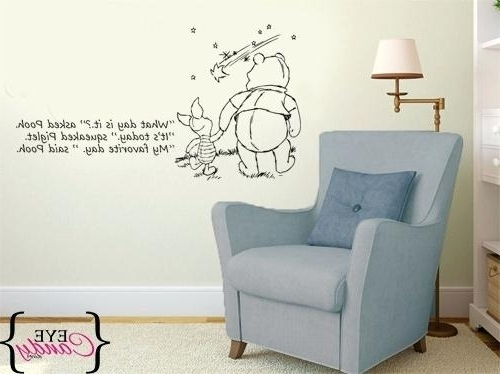Best And Newest Winnie The Pooh Vinyl Wall Art Intended For Winnie The Pooh Vinyl Wall Art New Pooh Eye Candy Decor Winnie The (View 2 of 15)