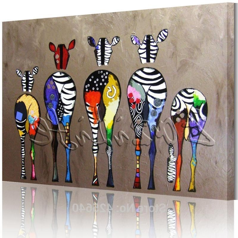 Best And Newest Zebra Wall Art Canvas With Regard To 2018 Zebra Pop Art Oil Paintings Canvas Hand Painted Andy Warhol (View 2 of 15)