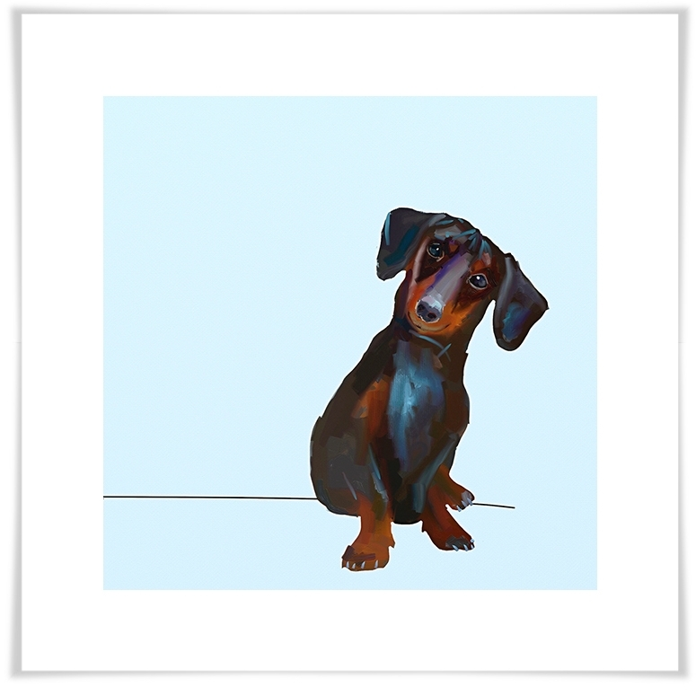 Best Friend - Tippy The Dachshund, Dogs & Cats Canvas Wall Art with Most Recently Released Dachshund Wall Art