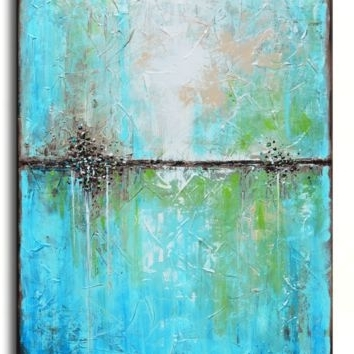 Best Large Abstract Canvas Art Products On Wanelo Pertaining To Most Recent Blue Green Abstract Wall Art (View 13 of 15)