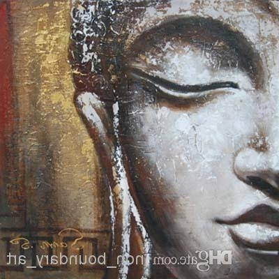 Best Wholesale Oil Wall Art,wall Canvas Art,handpainted,modern In Well Known Abstract Buddha Wall Art (View 14 of 15)